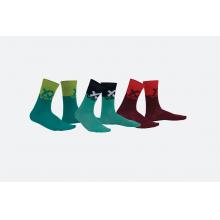 Volkl Crew Socks Maroon/Orange by Volkl