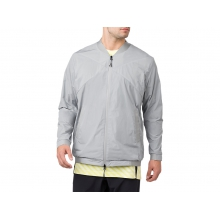 Mens Woven Jacket by ASICS in Mystic Ct