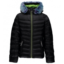 Girls' Timeless Hoody Faux Fur Down Jacket by Spyder
