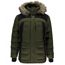 Men's Garrison Faux Fur Down Jacket by Spyder in Avon CO