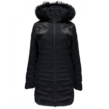 Women's Falline Long Faux Fur Down Jacket by Spyder in Cochrane Ab