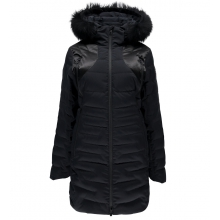Women's Falline Long Real Fur Down Jacket by Spyder