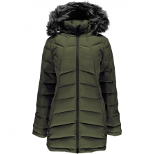 Women's Syrround Long Faux Fur Down Coat by Spyder in Edmonton Ab
