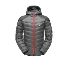 Men's Geared Hoody Synth Down Jacket by Spyder in South Lake Tahoe Ca