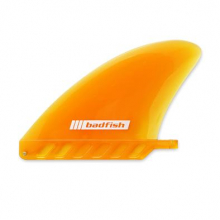 4.5in Soft Flex Center Fin (orange) by Badfish