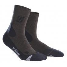 Womens CEP outdoor merino mid-cut socks
