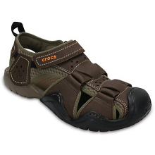 Men's Swiftwater Leather Fisherman by Crocs