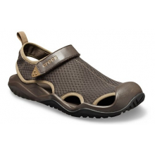 Men's Swiftwater Mesh Deck Sandal by Crocs in Lawrenceville GA