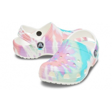 Kids' Classic Tie-Dye Graphic Clog by Crocs in Lahaina HI