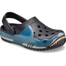 Kids' Crocs Fun Lab Shark Band Clog