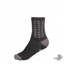 Men's Houndstooth Sock (Twin Pack) by Endura