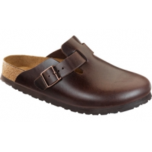 Boston Soft Footbed Brown Amalfi Leather by Birkenstock