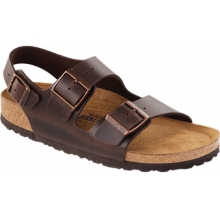 Milano Soft Footbed Brown Amalfi Leather by Birkenstock