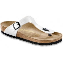 Gizeh Bright White Patent  Birko-Flor by Birkenstock