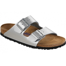 Arizona Soft Footbed Silver Birko-Flor by Birkenstock