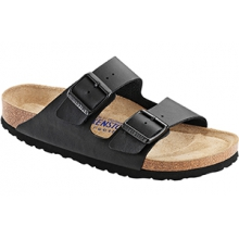 Arizona Soft Footbed Black Birko-Flor by Birkenstock