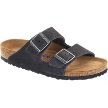 Arizona Soft Footbed Velvet Gray Suede by Birkenstock