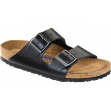 Arizona Soft Footbed Black Amalfi Leather