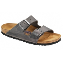 Arizona Soft Footbed Iron Oiled Leather by Birkenstock