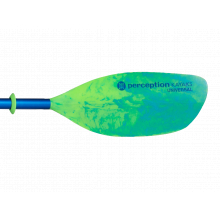 2-piece Perception Universal Paddle 230cm (Lime/Blue) by Perception in Berkeley Ca