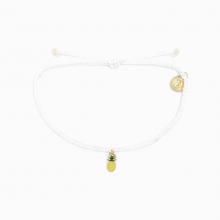 Gold Enamel Pineapple by Pura Vida Bracelets