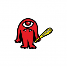 """Cyclops Sticker Red 3.4"""" X 2.75"""" by Troy Lee Designs"""