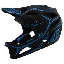 Stage Helmet Pinstripe Black/Cyan by Troy Lee Designs