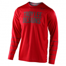 GP Jersey Pinstripe Red/Gray by Troy Lee Designs in Chelan WA