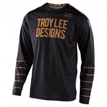 GP Jersey Pinstripe Black/Gold by Troy Lee Designs