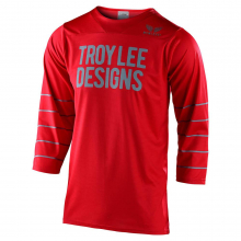 Ruckus 3/4 Jersey Pinstripe Red/Silver Blue by Troy Lee Designs