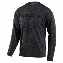 Flowline LS Jersey Signature Heather Black/Gray by Troy Lee Designs