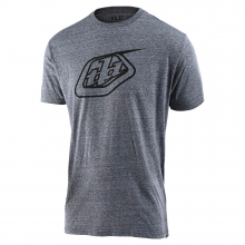 Logo Tee Vintage Gray Snow by Troy Lee Designs