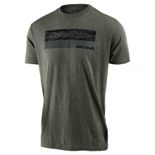Racing Block Fade Tee Sage Black Heather by Troy Lee Designs