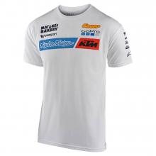 TLD KTM Team Tee White by Troy Lee Designs