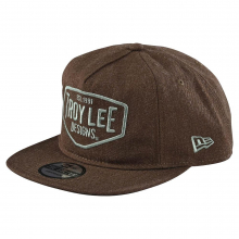 Motor Oil Snapback Heather Brown
