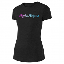 Women's Signature Tee Black by Troy Lee Designs in Aurora CO