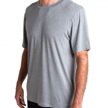Men's Bamboo Midweight Motion Tee by Free Fly Apparel in Victor Id