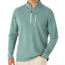 Men's Bamboo Fleece Quarter Zip by Free Fly Apparel in Fayetteville Ar