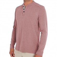 Men's Bamboo Flex Henley by Free Fly Apparel in Fort Smith Ar