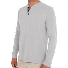 Men's Bamboo Flex Henley by Free Fly Apparel in Mobile Al