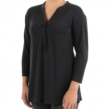 Women's Bamboo Flex Henley by Free Fly Apparel in Bentonville Ar