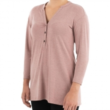 Women's Bamboo Flex Henley by Free Fly Apparel in Fort Smith Ar