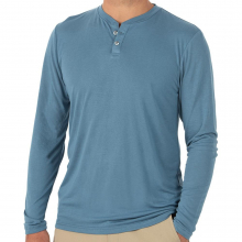 Men's Bamboo Cruiser Henley by Free Fly Apparel in Huntsville Al