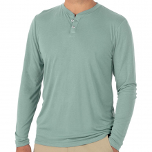 Men's Bamboo Cruiser Henley by Free Fly Apparel in Florence Al