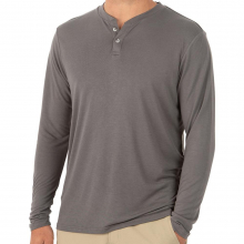 Men's Bamboo Cruiser Henley by Free Fly Apparel in Fayetteville Ar