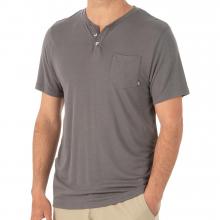 Men's Bamboo Slacktide Short Sleeve Henley by Free Fly Apparel in Tuscaloosa Al