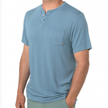 Men's Bamboo Slacktide Short Sleeve Henley by Free Fly Apparel in Fort Smith Ar