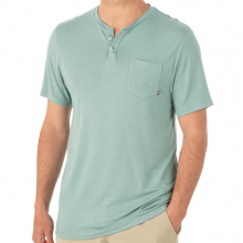 Men's Bamboo Slacktide Short Sleeve Henley by Free Fly Apparel in Huntsville Al