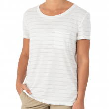 Women's Bamboo Channel Pocket Tee by Free Fly Apparel in Mobile Al