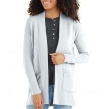 Women's Bamboo Thermal Fleece Cardigan by Free Fly Apparel in Squamish BC